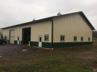 62' x 80' post-frame commercial building in Cochranton, PA