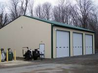 40x64x14 post-frame commercial building in Grove City, PA