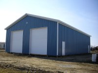 40' x 64' x 16' post-frame commercial building in Sandy Lake, PA