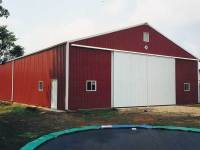 50x80x14 post-frame farm building in Kinsman, OH