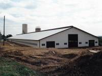 88x488 post-frame farm building in Cochranton, PA