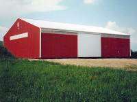 50x80x14 post-frame farm building in Butler, PA