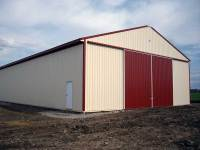 50x104x16 post-frame agriculture building in Stoneboro, PA - left corner