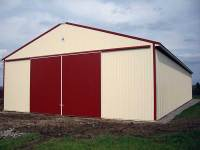 50x104x16 post-frame agriculture building in Stoneboro, PA - right corner