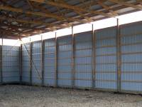 60x80x16 post-frame agricultural building in Chicora, PA - interior