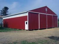 50x56x14 post-frame farm building in Butler, PA