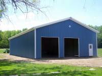 40x64x14 post-frame farm building in Conneautville, PA