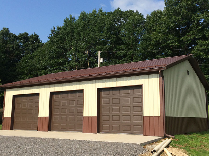 Post frame garages hostetler construction cochranton pa for 30 x 40 carport
