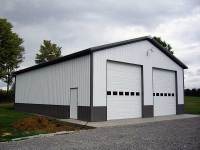 26x48x14 post-frame garage in Saxonburg, PA