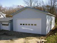 24x48x12 post-frame garage in Seneca, PA