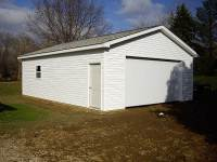 24x32x9 post-frame garage in Fairview, PA