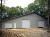 56x64x14 post-frame garage with 20' shed in Rockland, PA