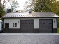 28x36x10 post-frame garage in Cooperstown, PA