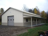 32' x 56' x 12' post-frame garage in Girard, PA