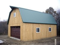 Post-frame garage 24'x32'x10' in Jackson Center, PA