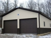 Garage in Sandy Lake, PA 24 ft x 24 ft x 10 ft