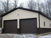 Garage in Sandy Lake, PA 24 ft x 24 ft x 10 ft