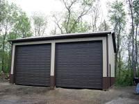 32x36x14 post-frame garage in Zelienople, PA