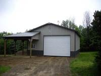 32x40x12 post-frame garage in Meadville, PA