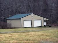 36x40x10 post-frame garage in Norrisville, PA