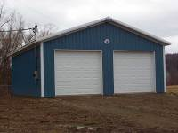 28x32x10 post-frame garage in Meadville, PA