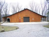 64x72x12 post-frame garage in Cooperstown, PA