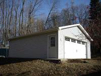 16 24x32x9 post-frame garage in Meadville, PA, corner view