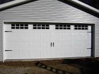 18 24x32x9 post-frame garage in Meadville, PA, detail on door