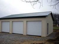 19 30x40x10 post-frame garage in Kittanning, PA