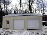 20 24x32x10 post-frame garage in Fryburg, PA