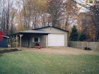 32x40x10 post-frame garage in Meadville, PA