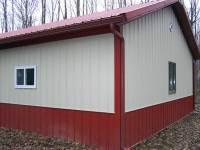24x32x9 post-frame garage in Cochranton, PA, corner view