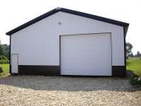 40x56x12 post-frame garage in Cochranton, PA