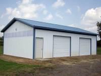24x32x10 post-frame garage in Sheakleyville, PA
