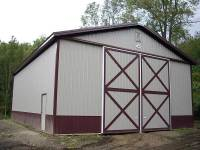 36x48x14 post-frame garage in Cochranton, PA