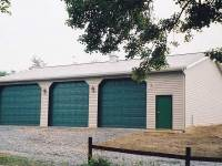 32x56x12 post-frame garage in Butler, PA