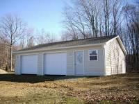 24x40x9 post-frame garage in Sandy Lake, PA