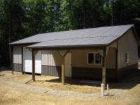 36x40x10 post-frame garage in Townville, PA