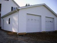 28x28x9 post-frame garage in New Wilmington, PA