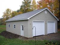 36x40x10 post-frame garage in Erie, PA