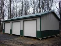 24x36x10 post-frame garage in Grove City, PA