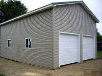 24x32x14 post-frame garage in Cooperstown, PA