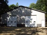 50x80x14 post-frame garage in Boyers, PA