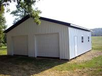 30x32x10 post-frame garage in Butler, PA