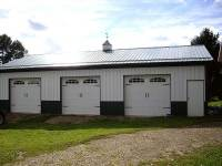 30x48x10 post-frame garage in Conneatville, PA