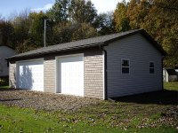 Garage 24'x40'x9' in Cochranton, PA, corner view