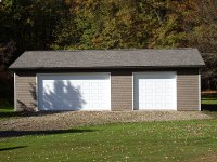 Garage 24'x40'x9' in Cochranton, PA, front view