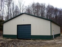 Post-frame garage 48'x72'x14' in Polk, PA