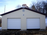 Post-frame garage 32'x32'x10' in Cooperstown, PA