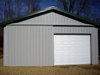 Post-frame garage 24'x40'x9' in Cooperstown, PA, front view